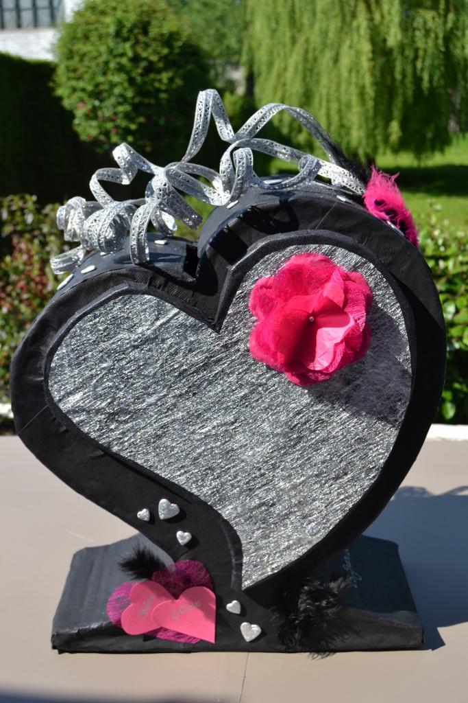 Une urne de mariage en carton loisirs cr atifs maman - Urne anniversaire a faire soi meme ...
