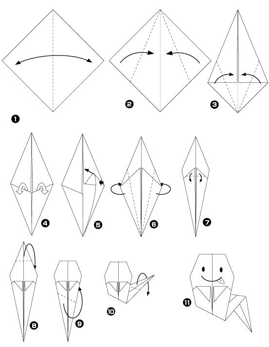 fantôme origami