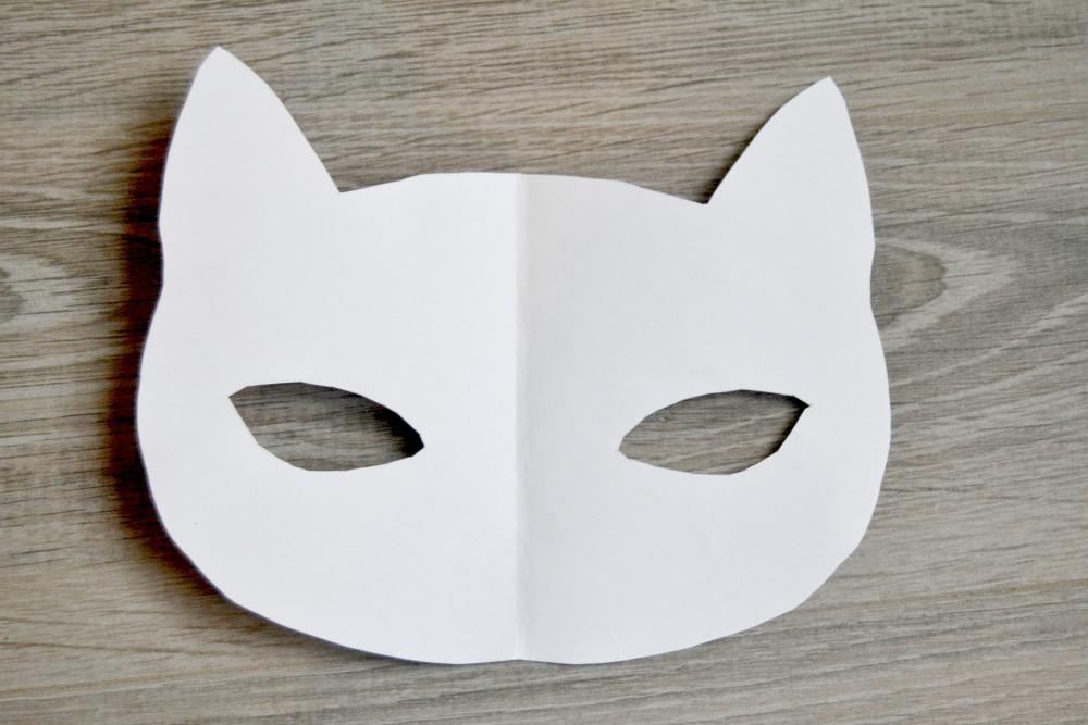 modèle masque de chat