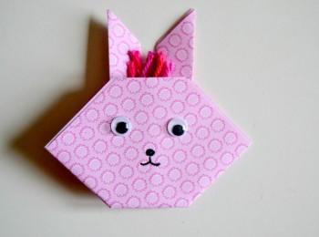l 39 origami pour les p 39 tites mains le lapin maman tout faire. Black Bedroom Furniture Sets. Home Design Ideas