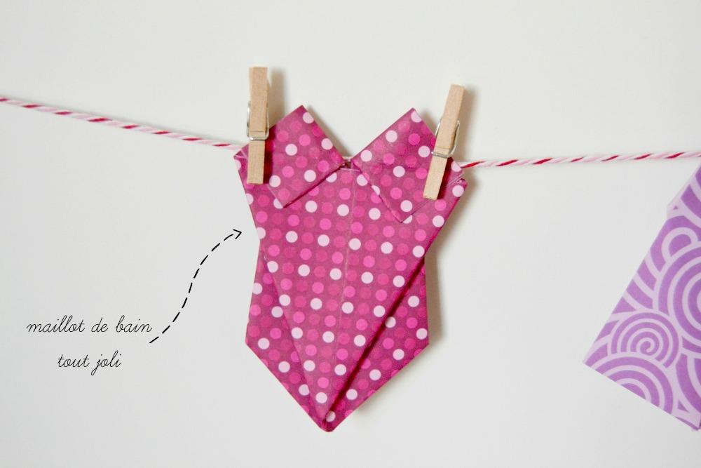 maillot de bain origami