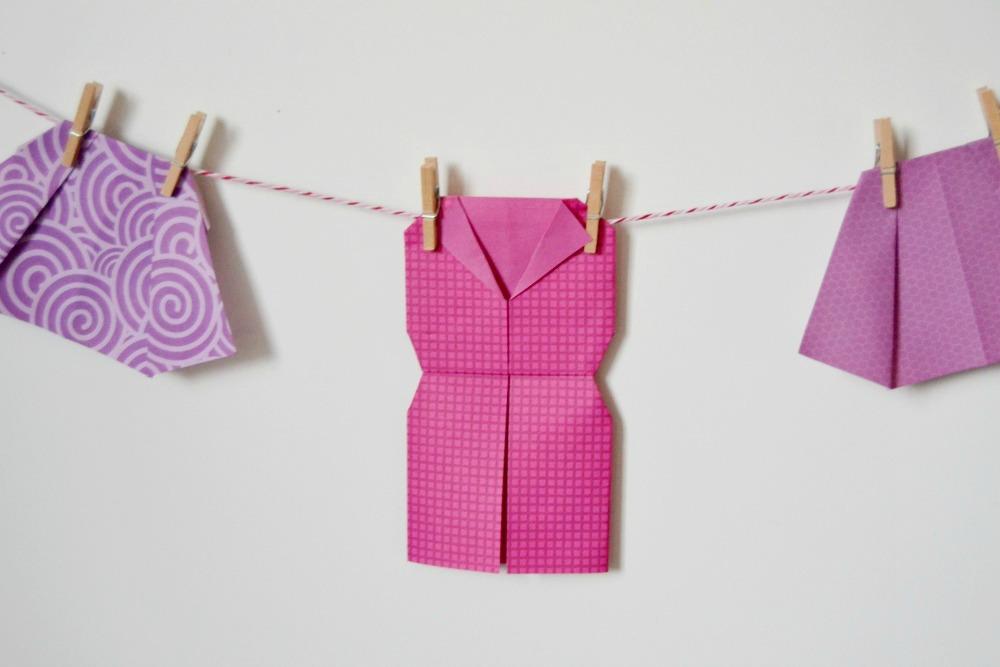La chambre des filles v tements en origami maman tout faire - Robe en origami ...