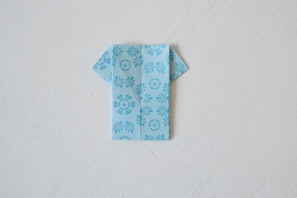 tee-shirt  en origami