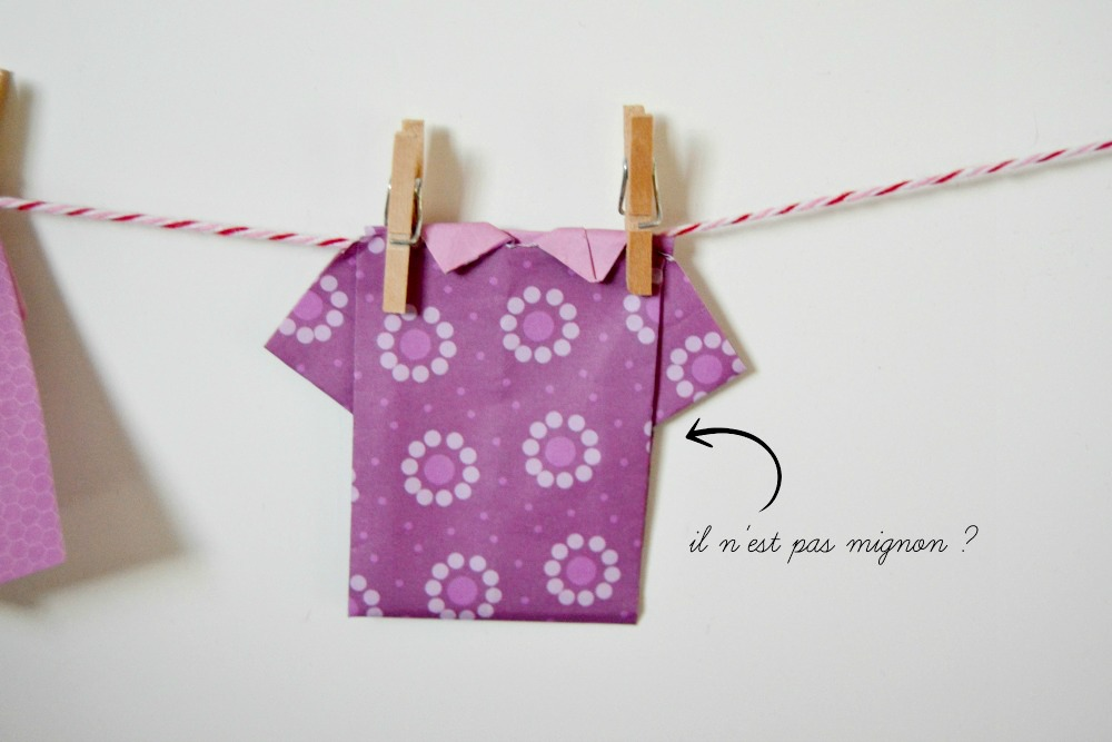 tee-shirt origami