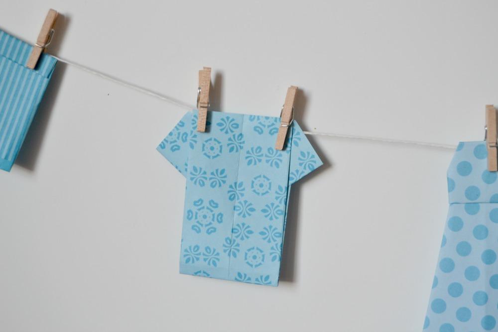 tee-shirts origami