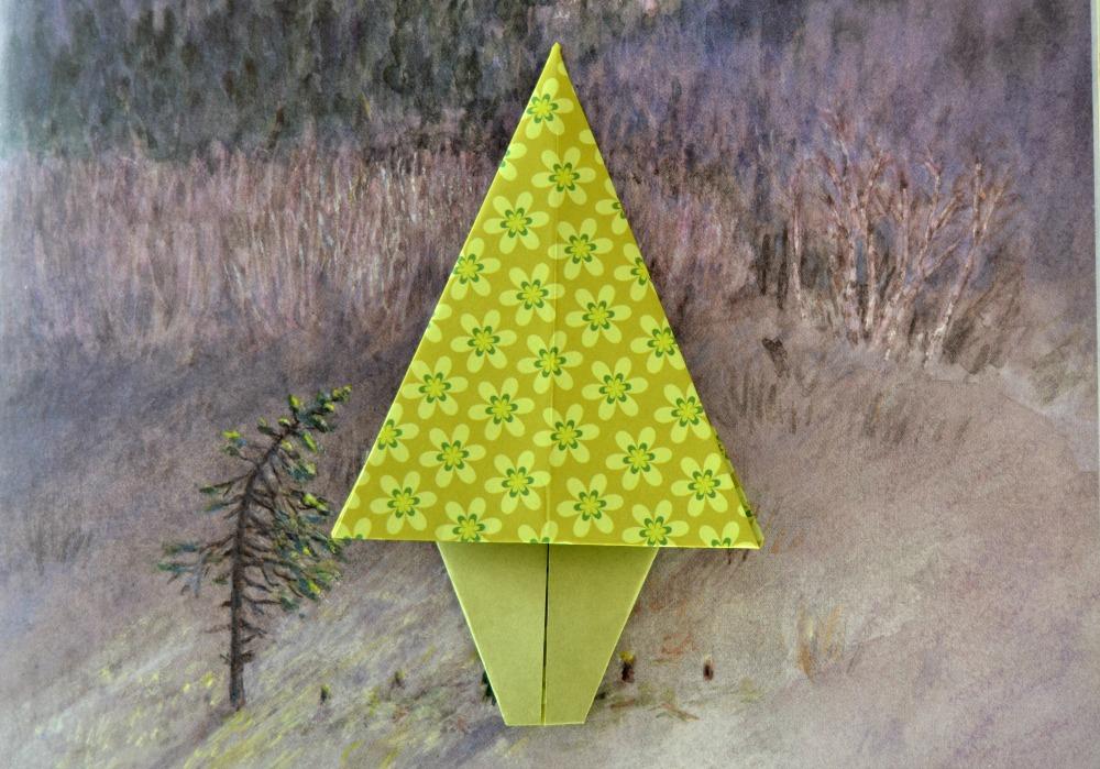 Le sapin en origami maman tout faire - Sapin en origami ...