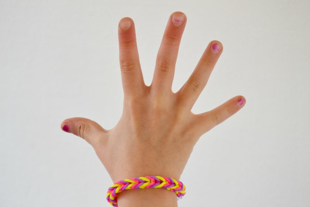 bracelet avec des élastiques