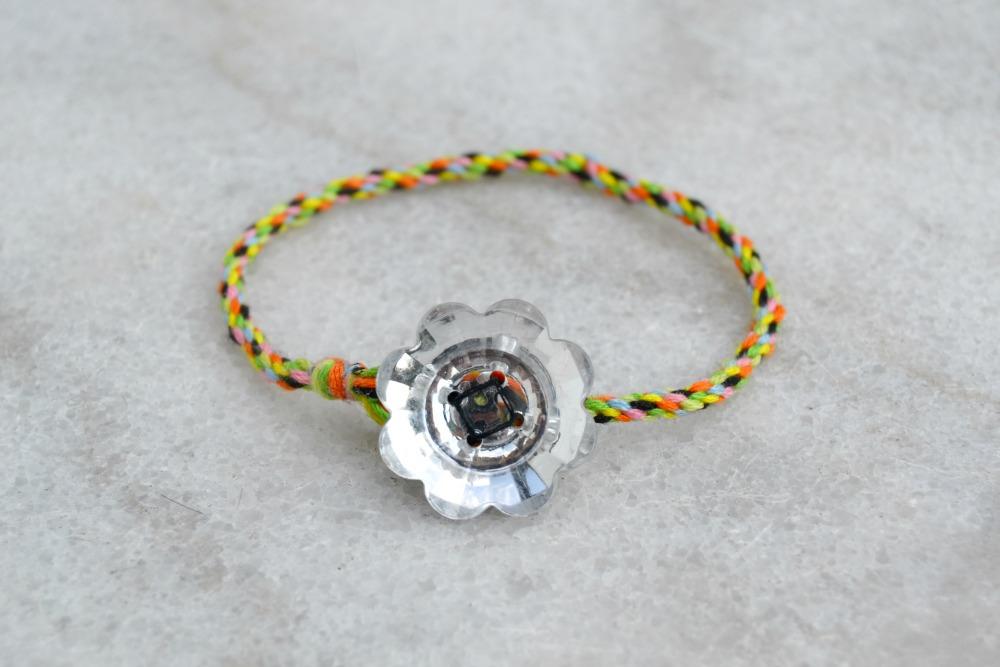 bracelet kumihimo - fermoir bouton