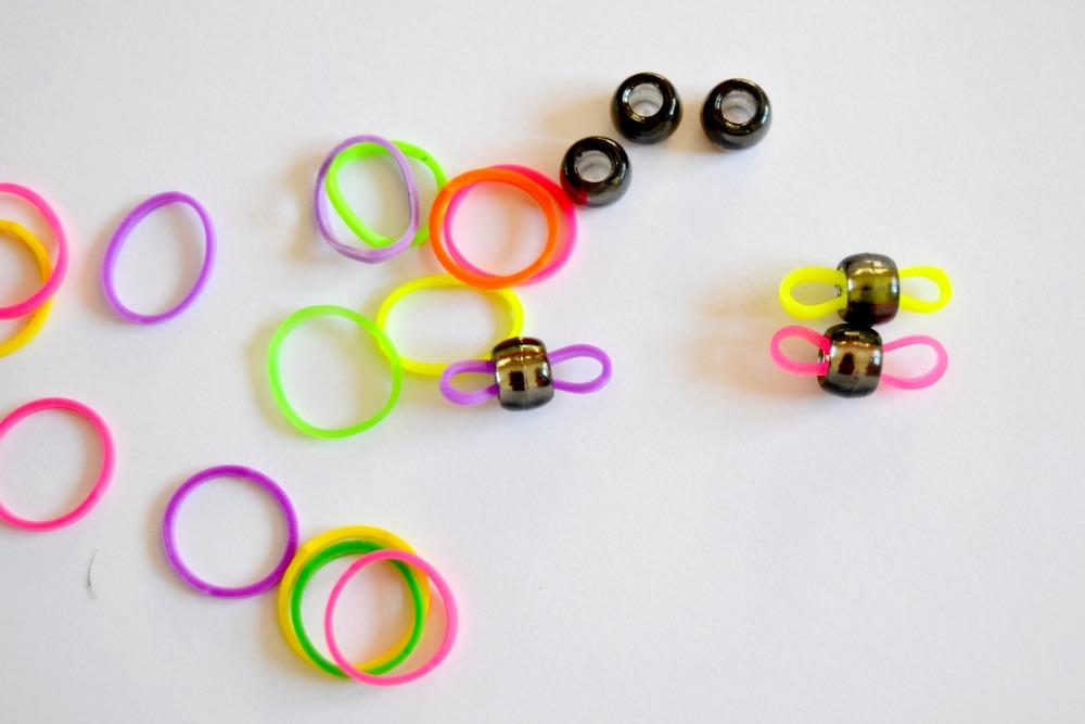 bracelets perles élastiques