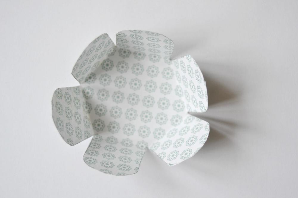 boite papier hexagonale