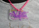 collier Violetta plastique dingue