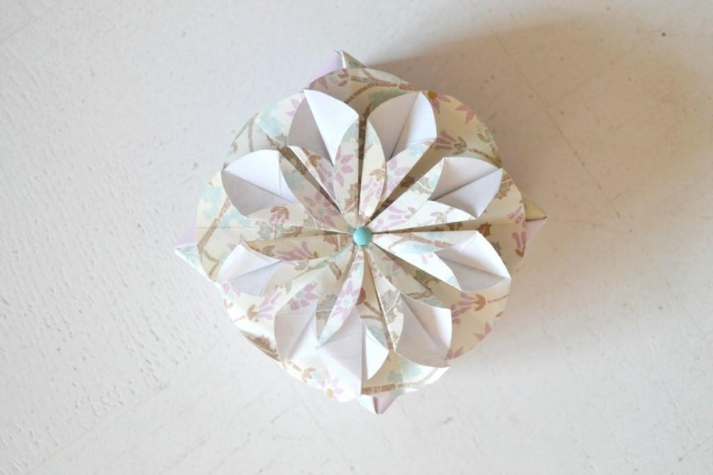 fleur papier boite