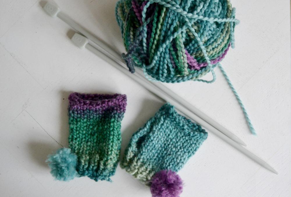 tricot facile  les mitaines