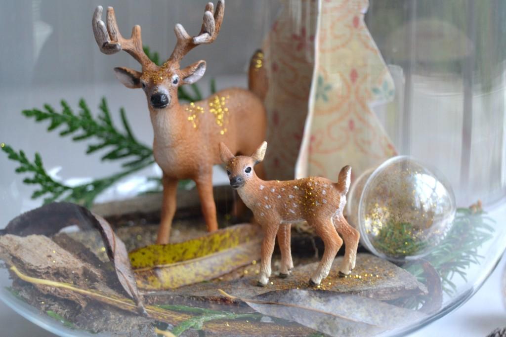 figurines faon et cerf - Noël