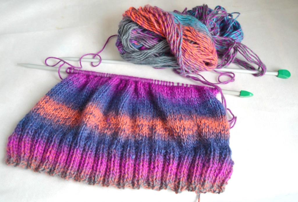 tricoter un bonnet avec revers