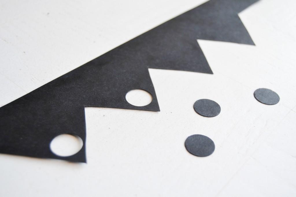 couronne papier noir cartonné