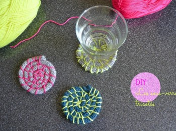 knitted coaster
