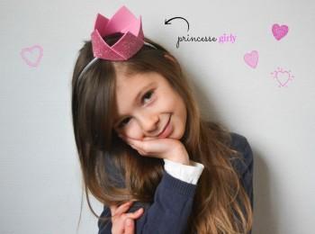 la couronne de princesse rose et paillettes