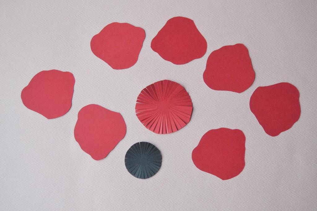 fleur en papier - étape 2