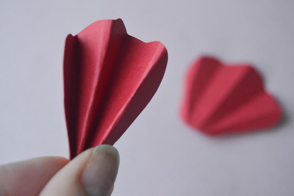 fleur en papier - étape 4