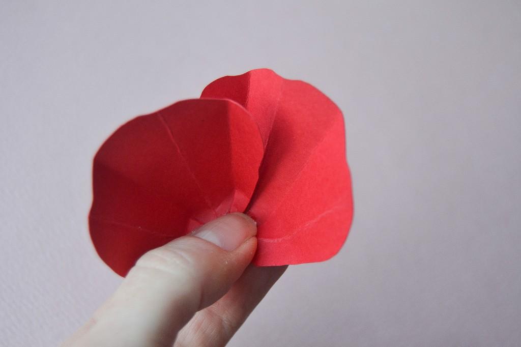 fleur en papier étape 5