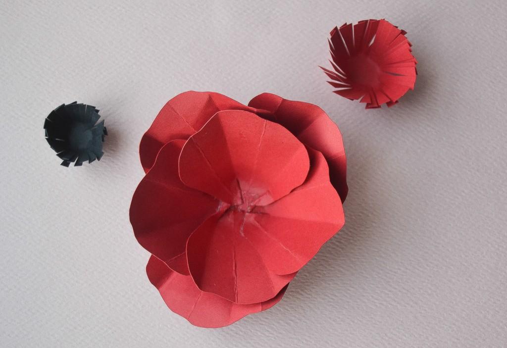 fleur en papier - étape 6