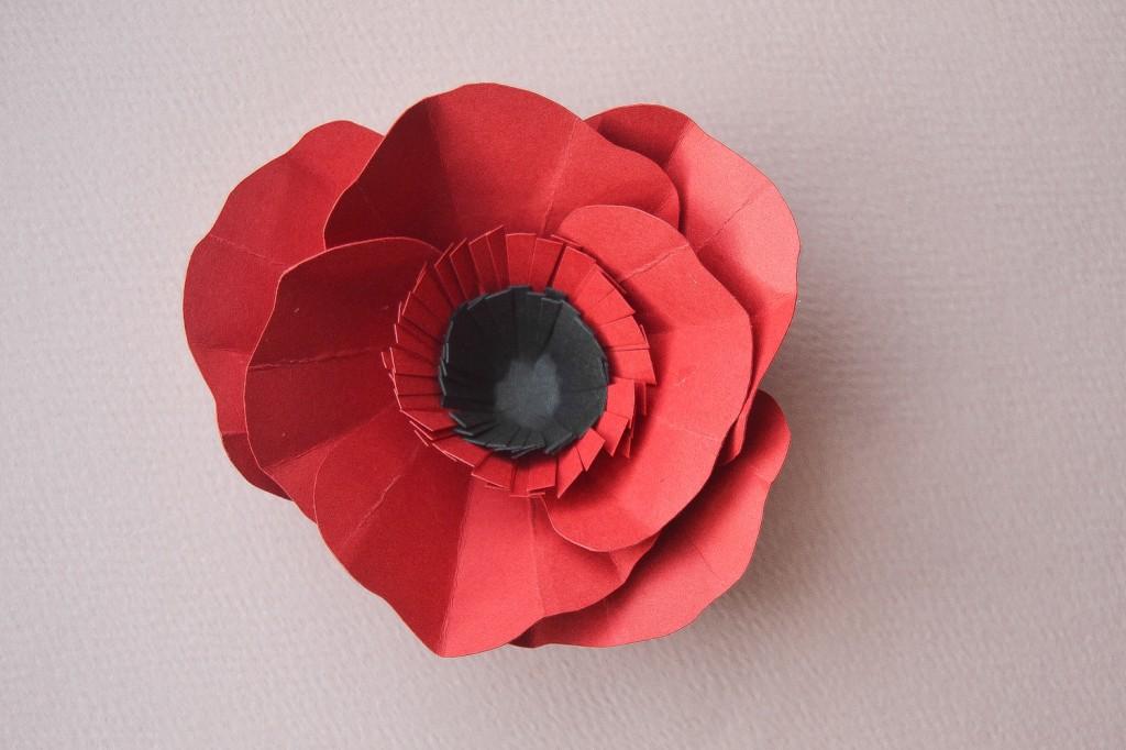 fleur en papier - pavot