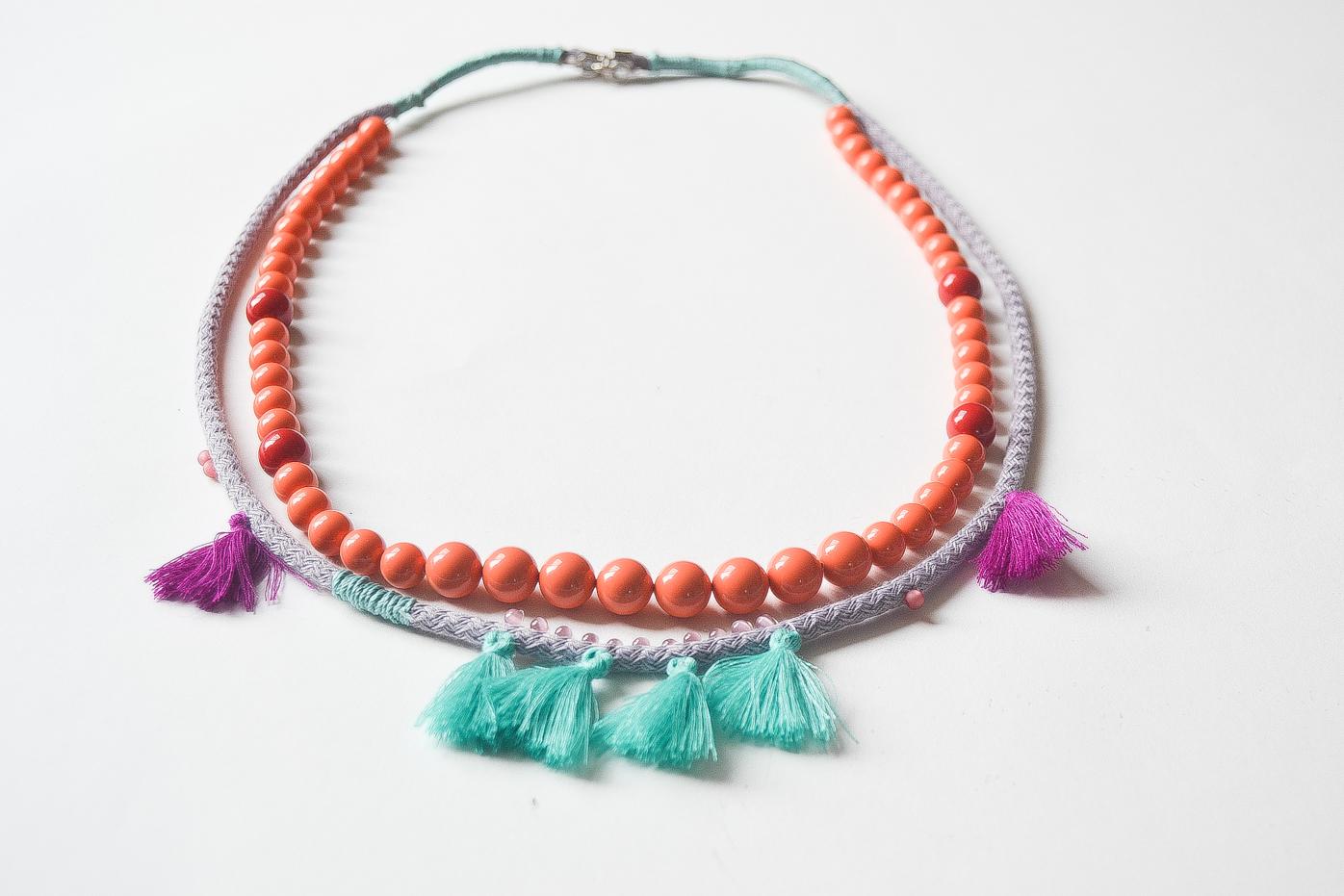 Collier boh me bijoux maman tout faire - Comment faire un collier en perle ...