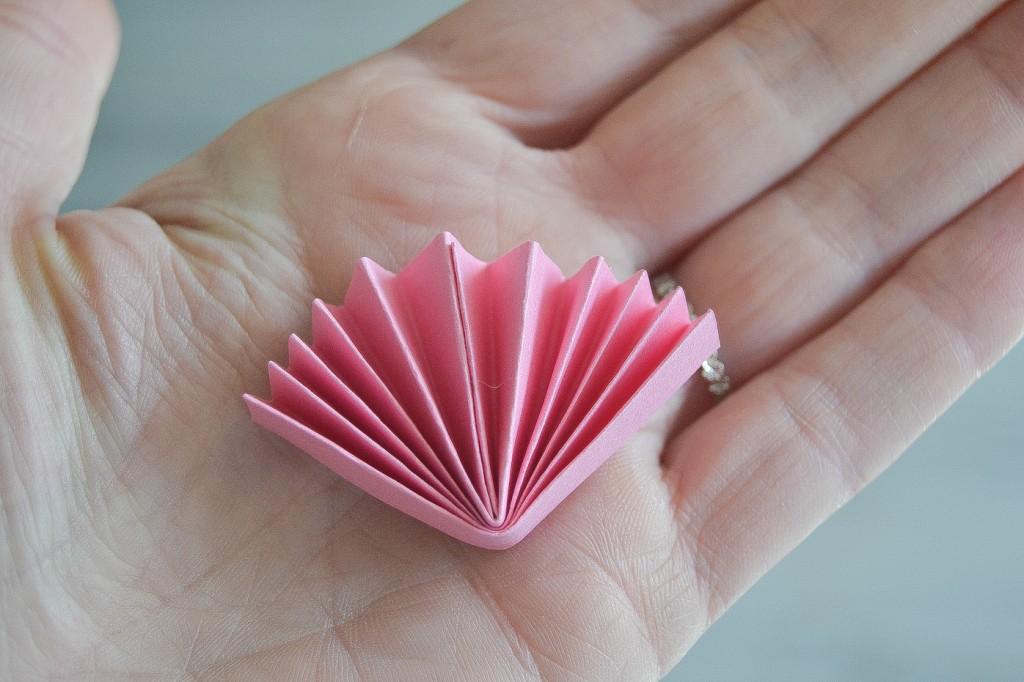 fleur en papier rose