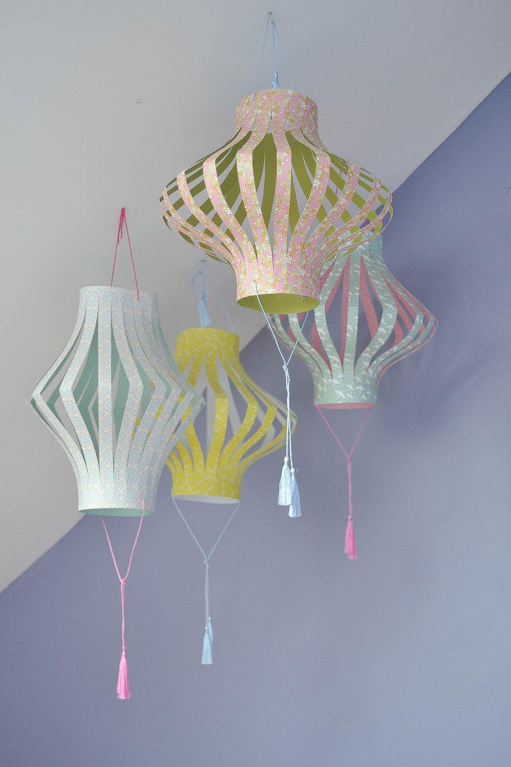 petites lanternes papier