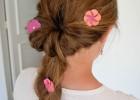 coiffure fleurs en papier
