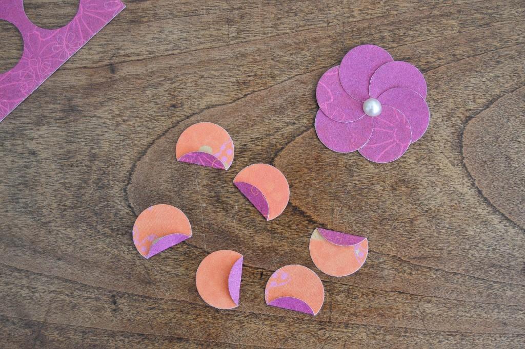 pétales fleurs en papier
