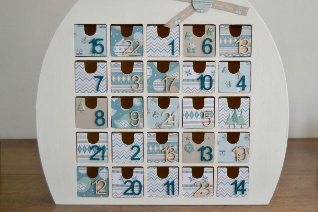 tiroirs calendrier de l'Avent