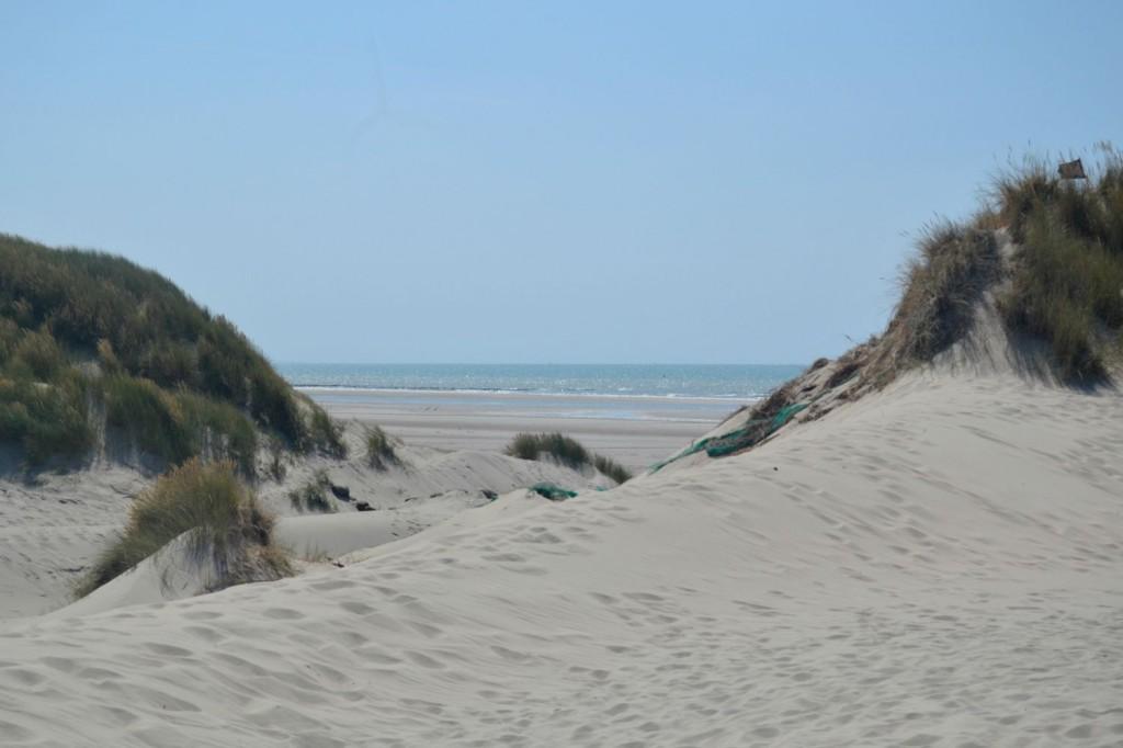 le sentier d'accès à la mer de Quend
