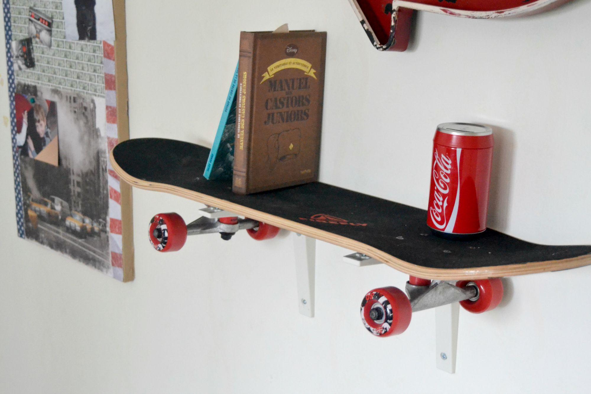 L'étagère skate  déco chambre d'ado  Maman à tout faire