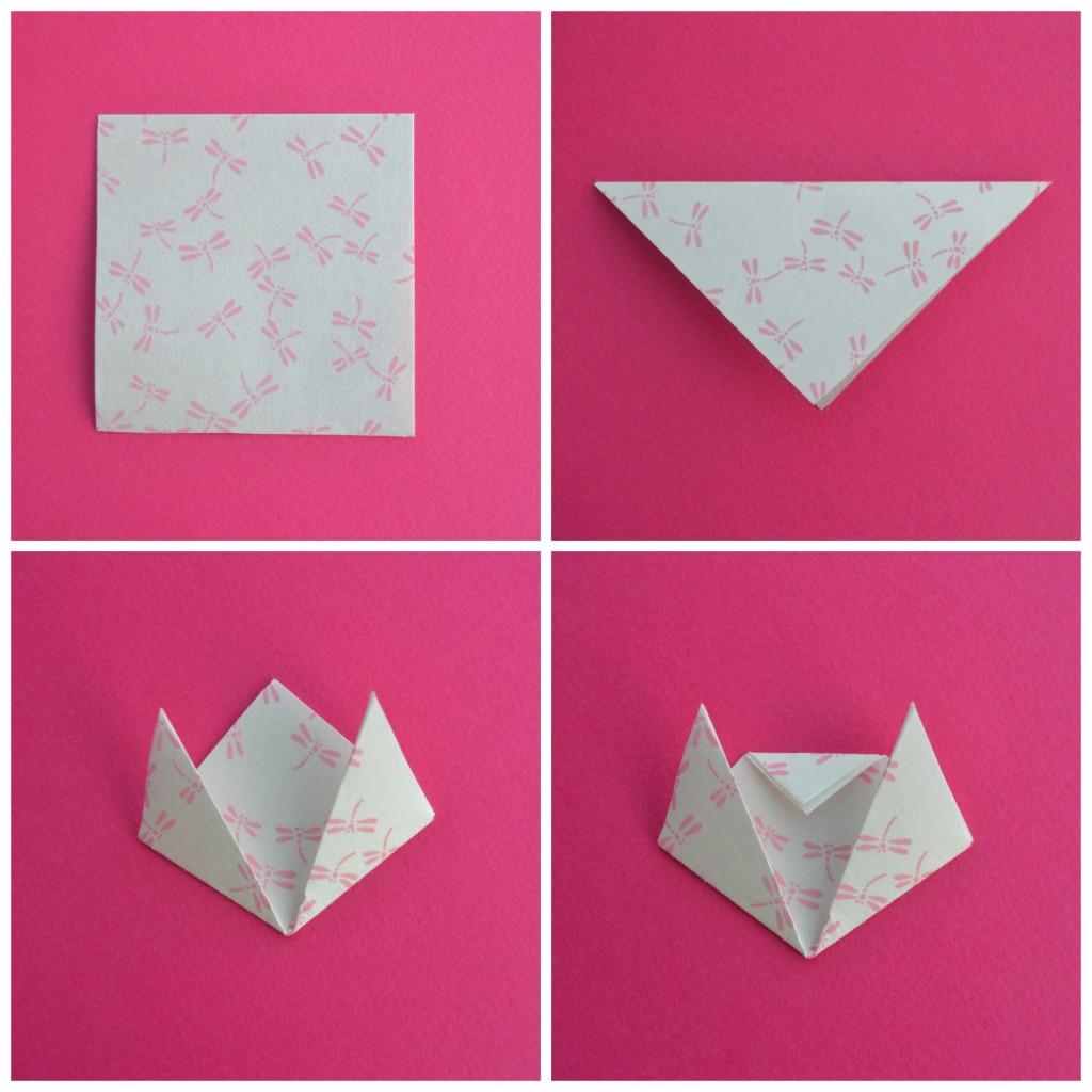 Marque page en origami les petits chats maman tout faire - Marque page en papier ...