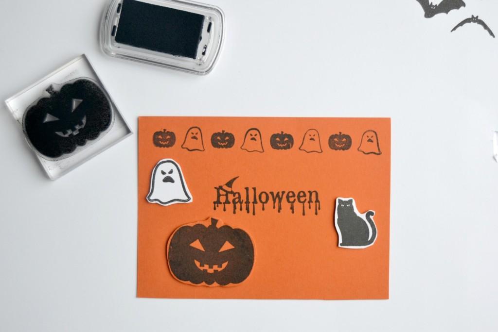 carte citrouille Halloween