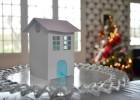 Maison en papier de Noël