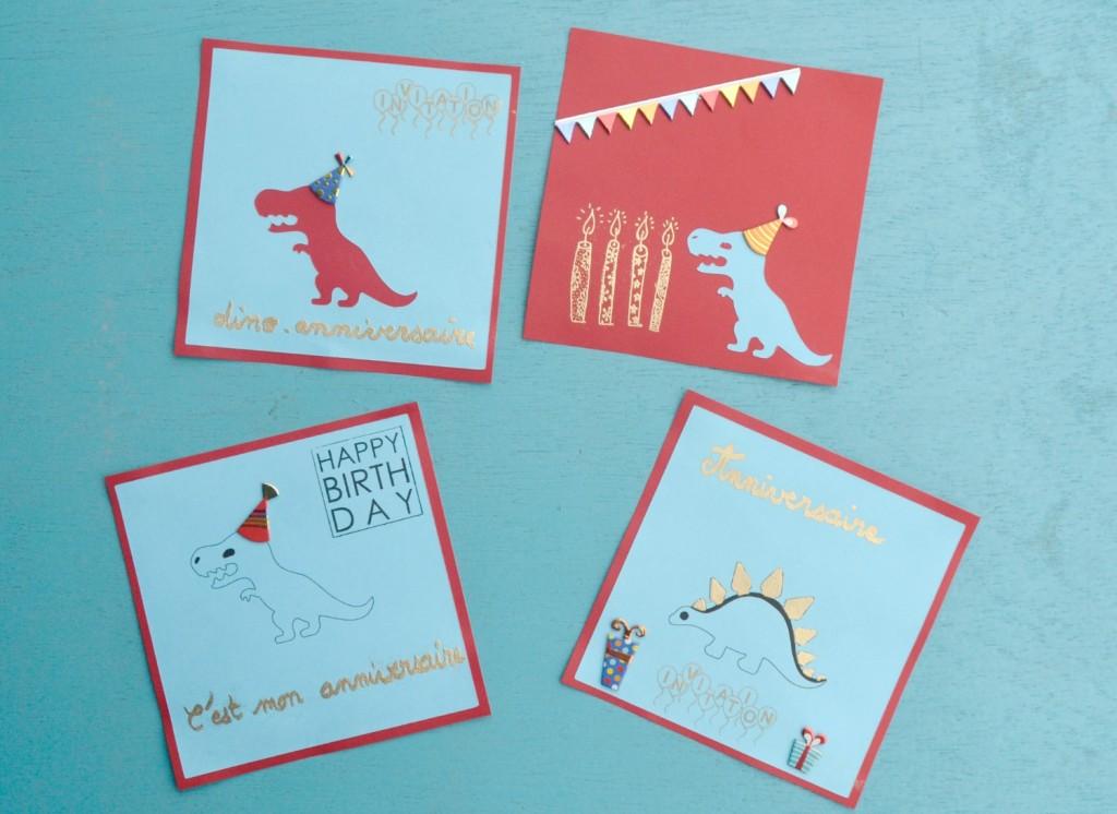 invitations anniversaire dinosaure