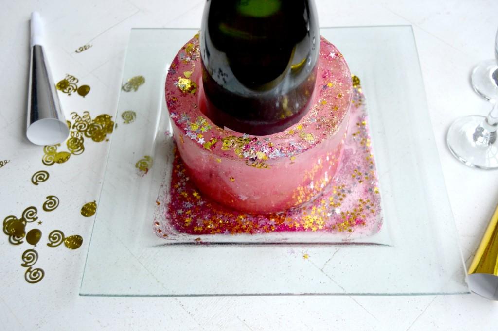 sceau à champagne en glace - réveillon