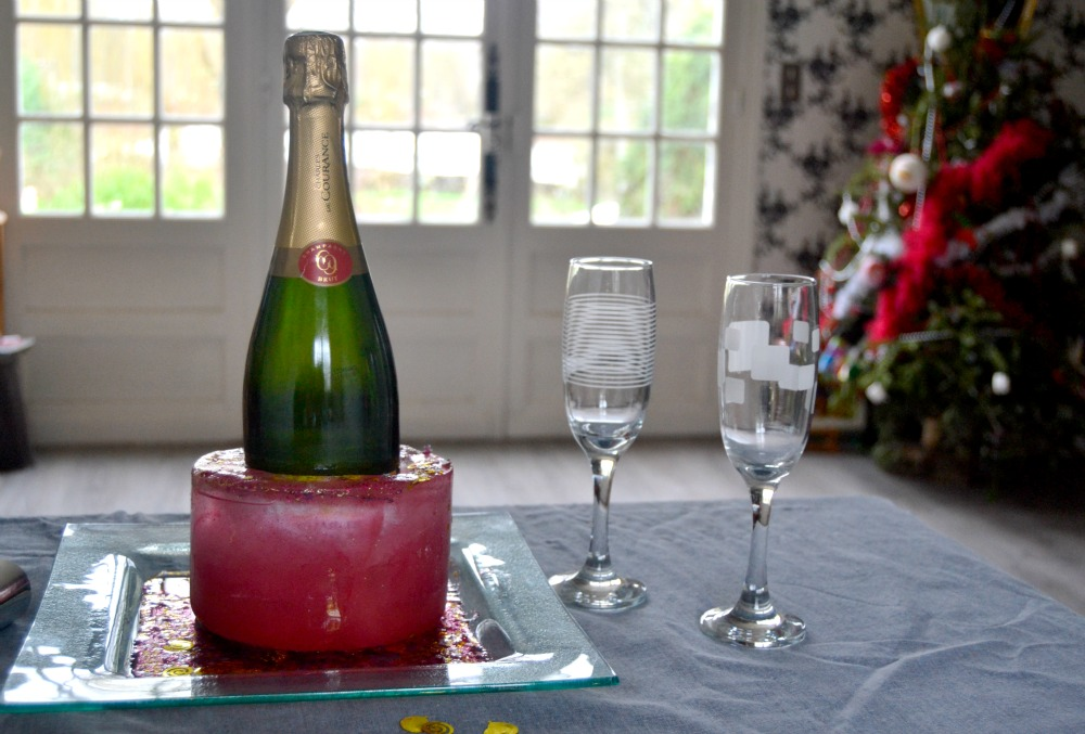 sceau à champagne glacé