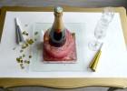 un sceau à champagne en glacé