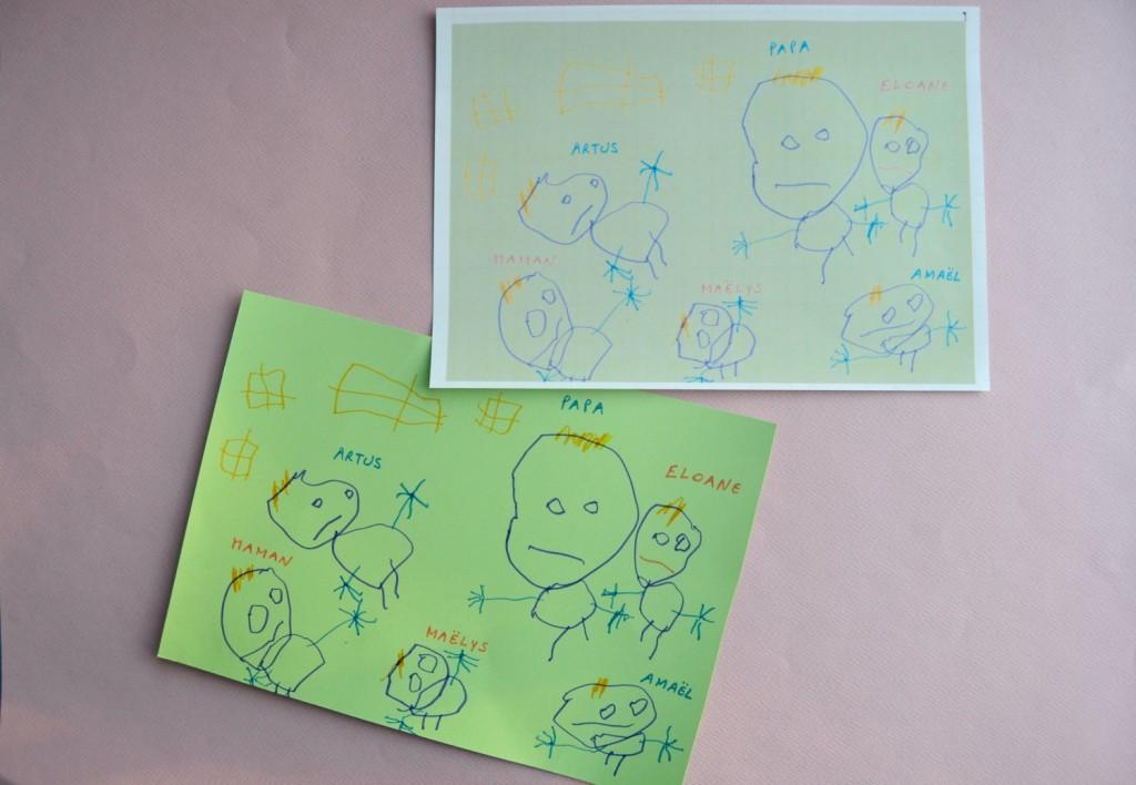 transfert textile dessin enfant
