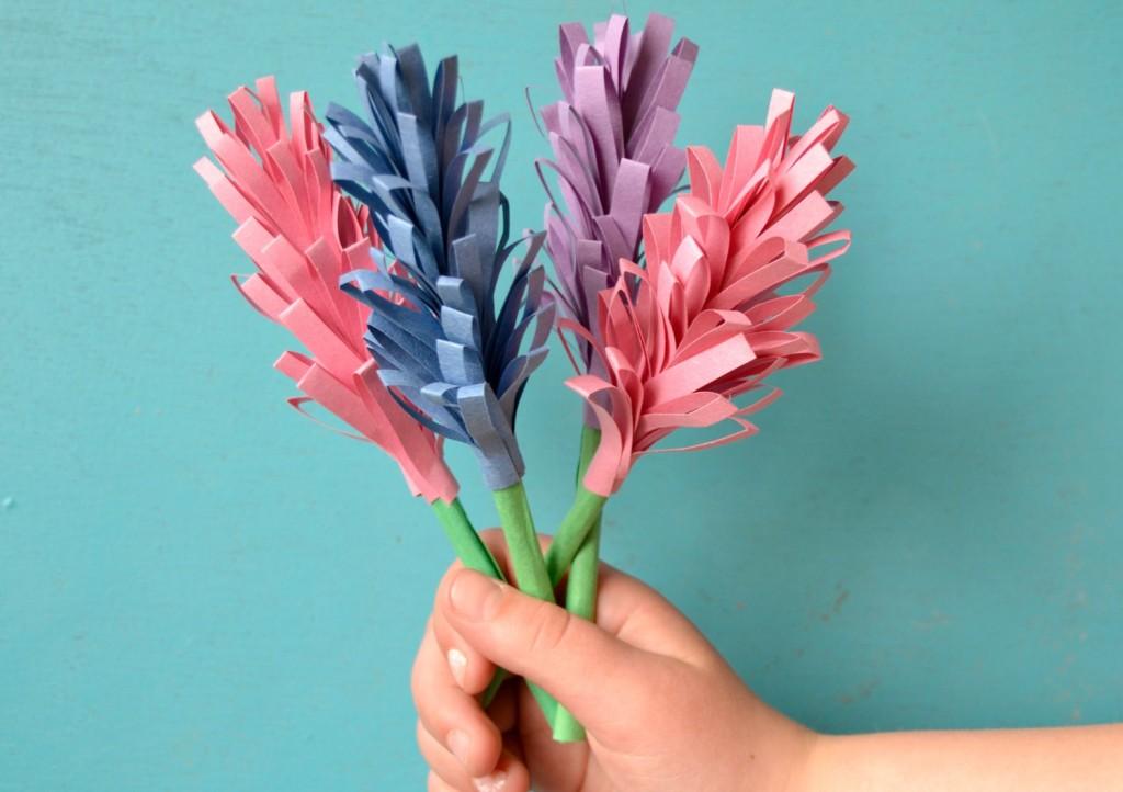 bouquet de jacinthes en papier