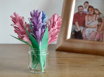 vase jacinthes en papier