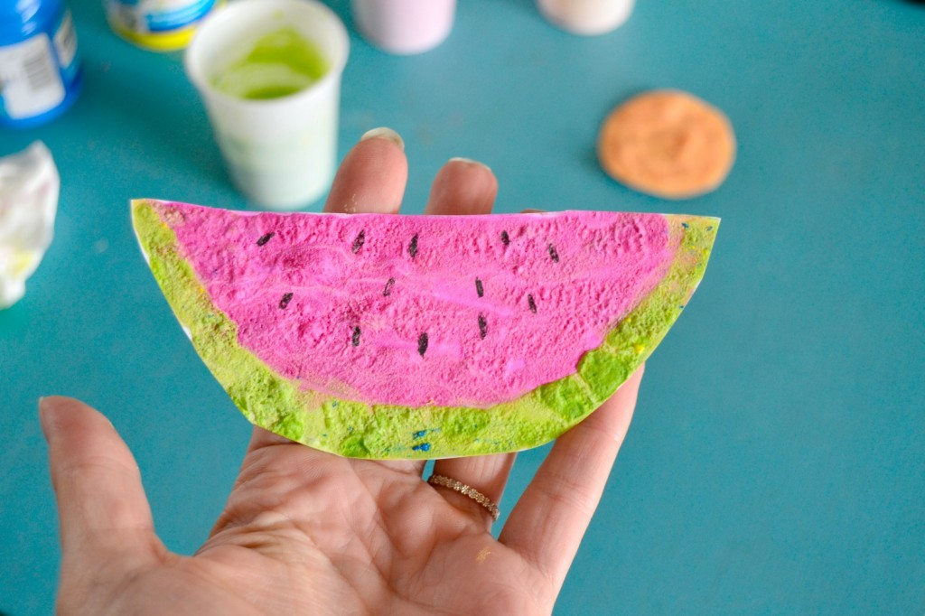 peinture gonflante pastèque