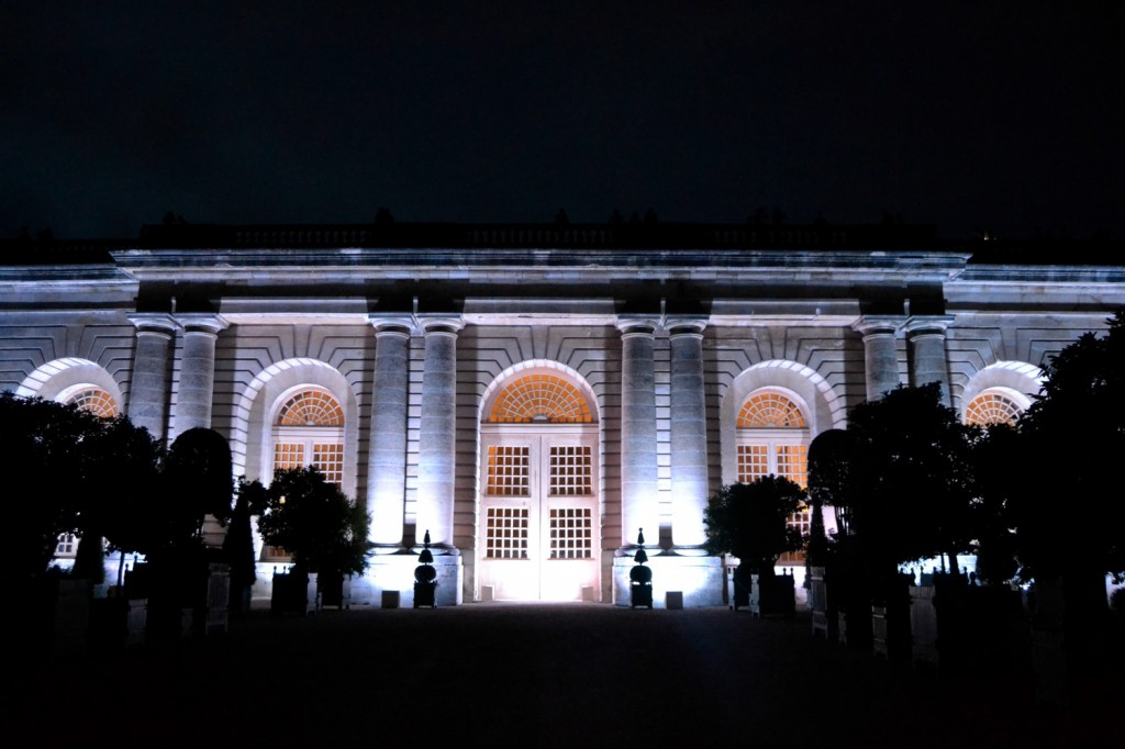 orangerie Versailles nocturne