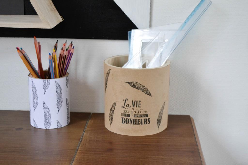 pots à crayons customisés