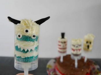 push up cake pops monstre