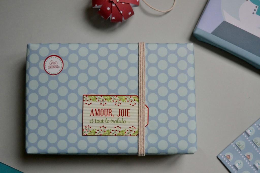 étiquette papier cadeau